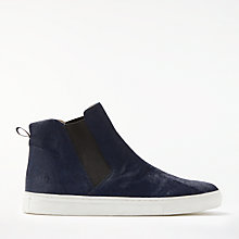 Buy Boden Josie High Top Trainers, Navy Online at johnlewis.com