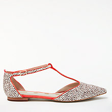 Buy Boden Angelica T-Bar Pumps, White Mini Spot Online at johnlewis.com