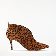 Buy Boden Alexa Stiletto Heeled Ankle Boots, Leopard Online at johnlewis.com