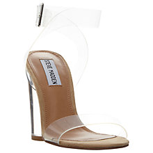 Buy Steve Madden Clearer Strappy Sandals, Clear Online at johnlewis.com
