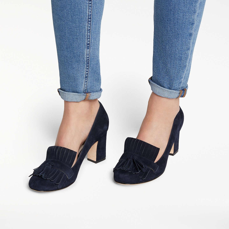 John Lewis Navy Court Shoes