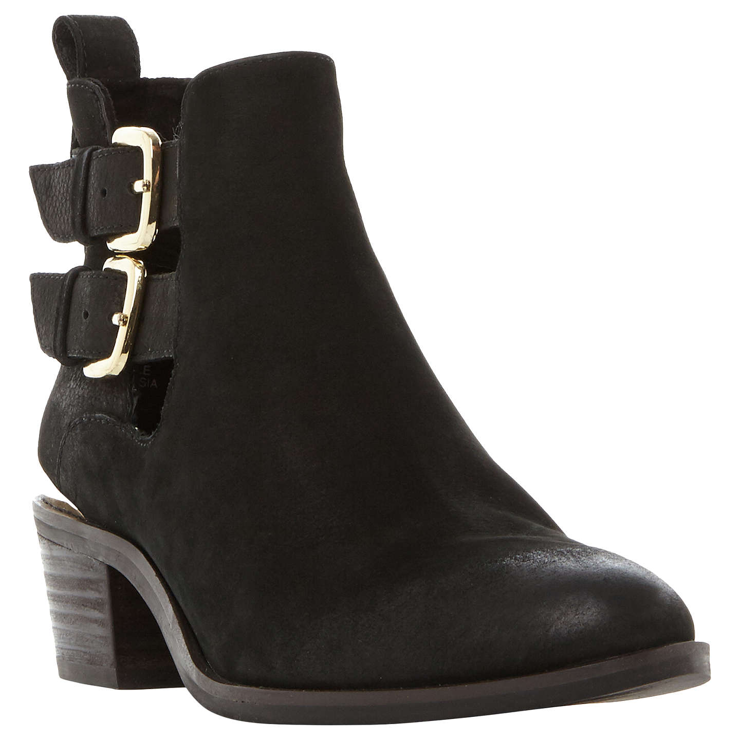 BuySteve Madden Picos Cut Out Ankle Boots, Black, 3 Online at johnlewis.com  ...