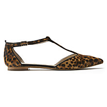 Buy Boden Angelica T-Bar Pumps, Leopard Online at johnlewis.com