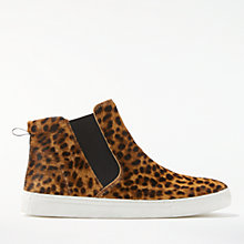 Buy Boden Josie High Top Trainers, Leopard Online at johnlewis.com