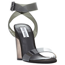 Buy Steve Madden Clearer Strappy Sandals, Grey Online at johnlewis.com