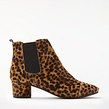 Buy Boden Henley Block Heeled Ankle Chelsea Boots, Leopard Online at johnlewis.com