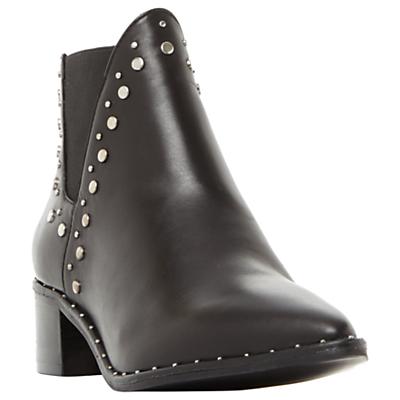 Steve Madden Doruss Studded Ankle Chelsea Boots, Black Leather
