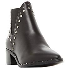 Buy Steve Madden Doruss Studded Ankle Chelsea Boots, Black Leather Online at johnlewis.com