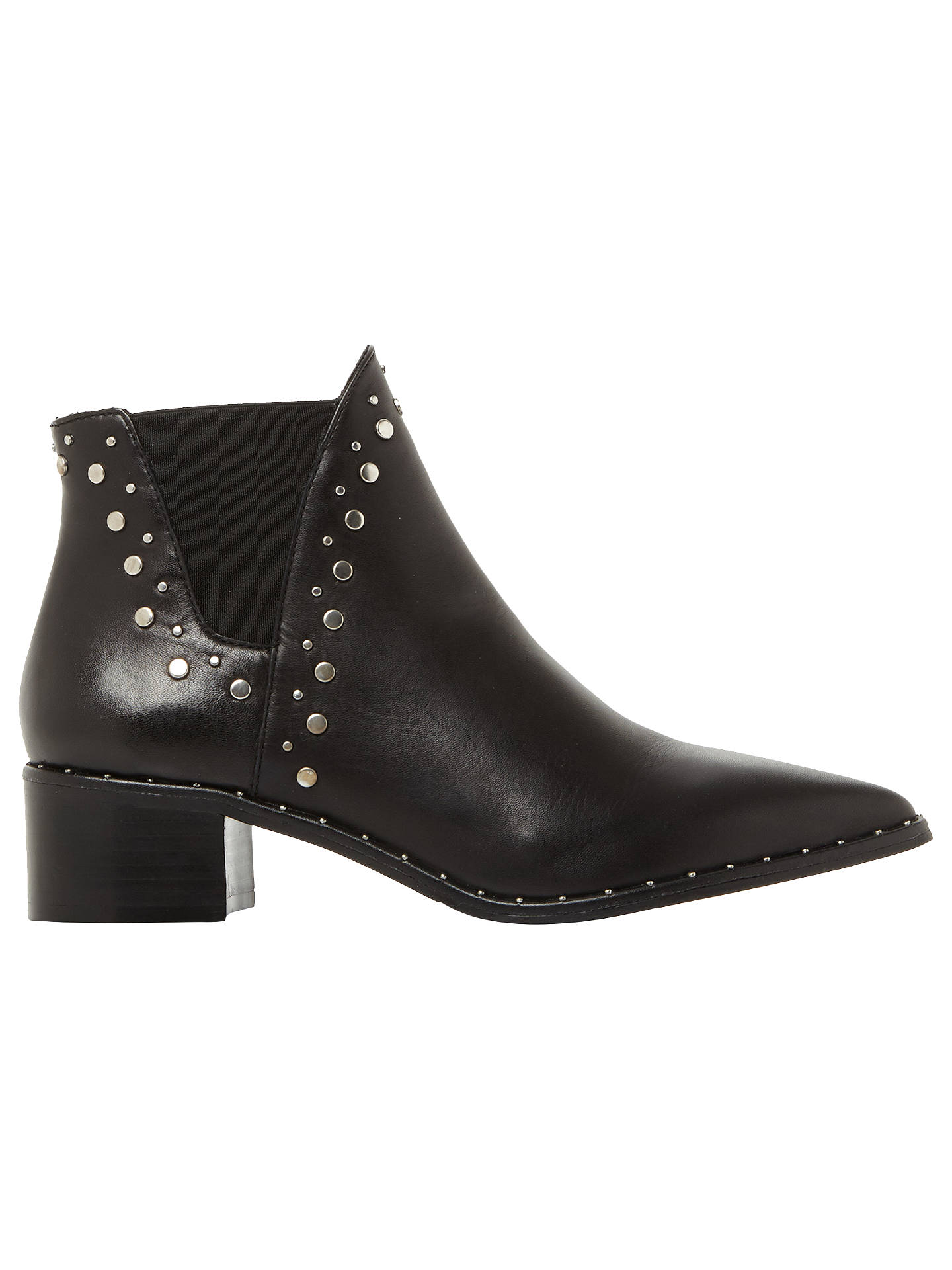 Buy Steve Madden Doruss Studded Ankle Chelsea Boots, Black Leather, 3 Online at johnlewis.com