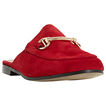Buy Dune Gene Backless Loafers, Red Suede Online at johnlewis.com