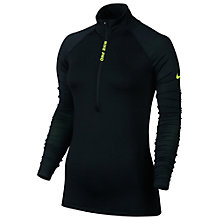 Buy Nike Pro Hyperwarm Half Zip Training Top, Black/Volt Online at johnlewis.com