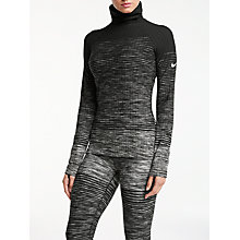 Buy Nike Pro Hyperwarm Training Top, Dark Grey/White Online at johnlewis.com