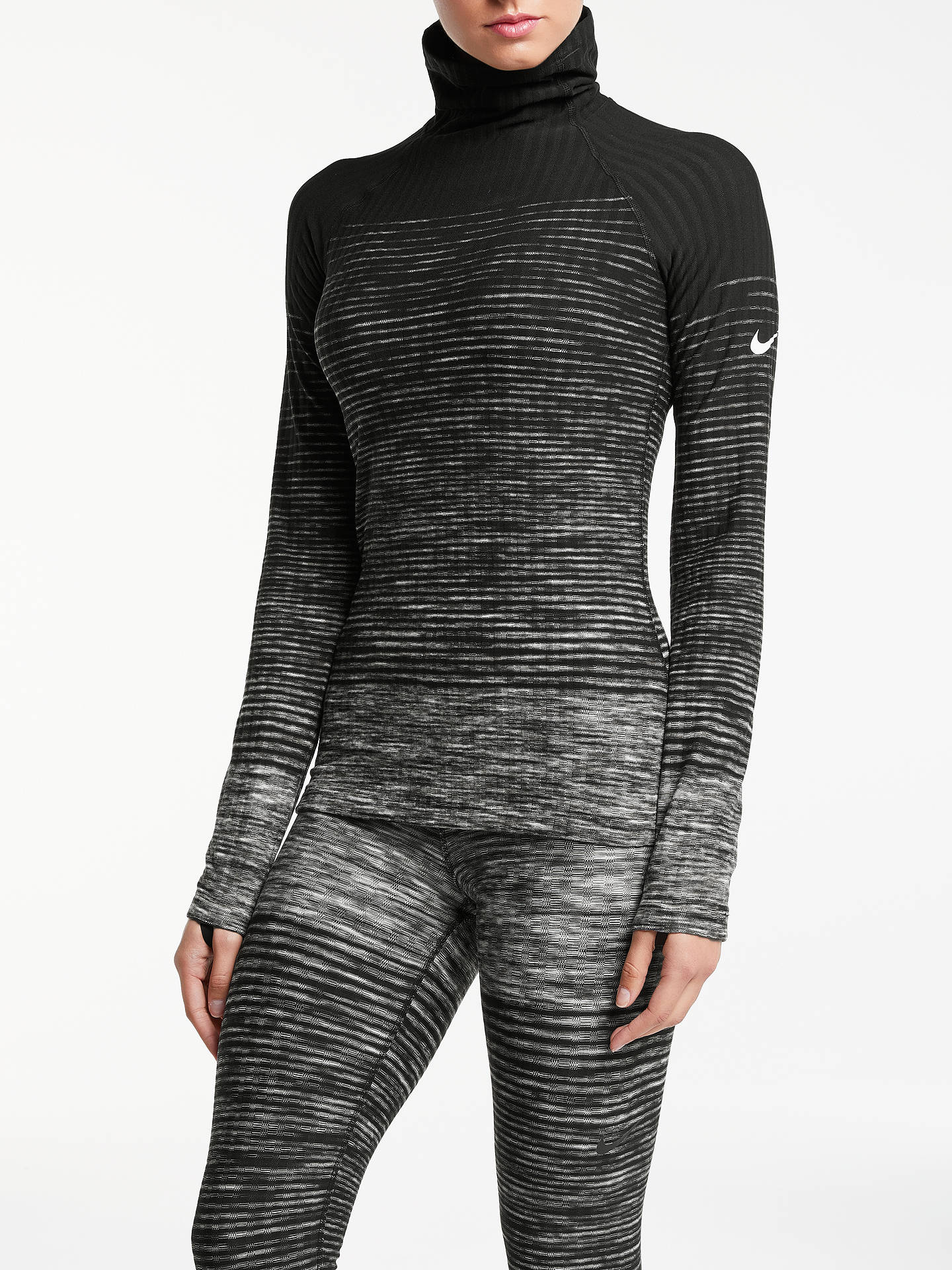 Moderne Nike Pro Hyperwarm Training Top, Dark Grey/White at John Lewis UC-15