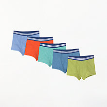 Buy John Lewis Boys' Marl Trunks, Pack of 5, Multi Online at johnlewis.com