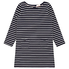Buy Jigsaw Girls' Stripey Jersey Dress Online at johnlewis.com