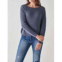 Buy Great Plains Stella Cotton Knit Jumper, Nightshadow Blue Online at johnlewis.com
