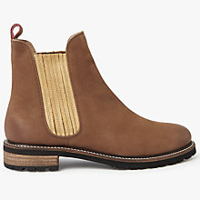 Buy Joules Clarendon Leather Chelsea Boots, Brown Online at johnlewis.com