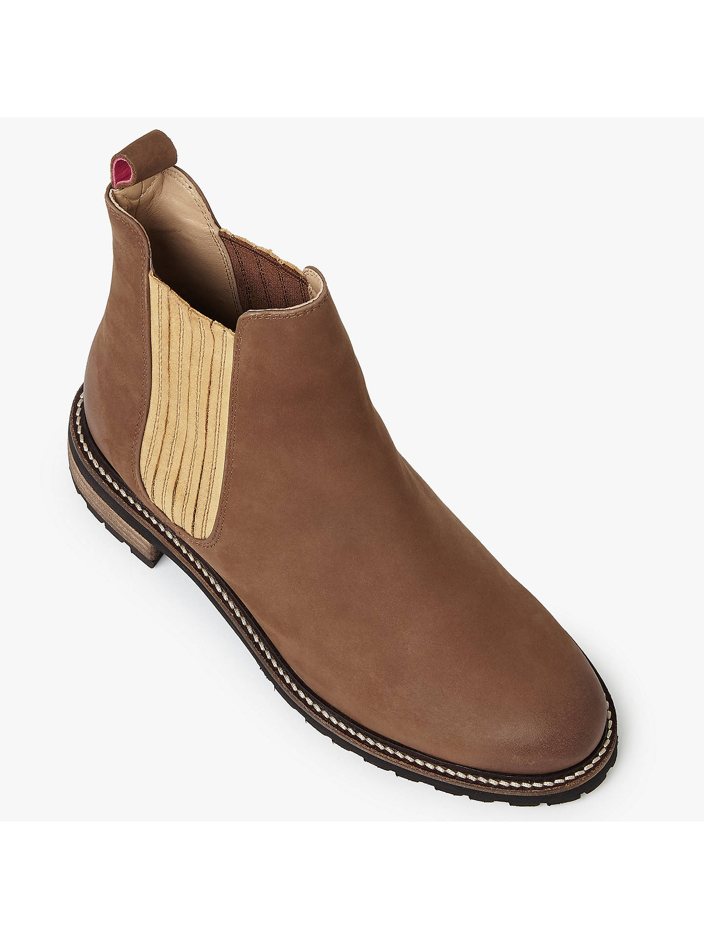 b84134bac52 Joules Clarendon Leather Chelsea Boots, Brown at John Lewis & Partners