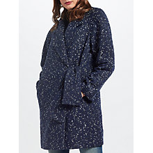 Buy Great Plains Connie Side Tie Coat, Classic Navy Online at johnlewis.com