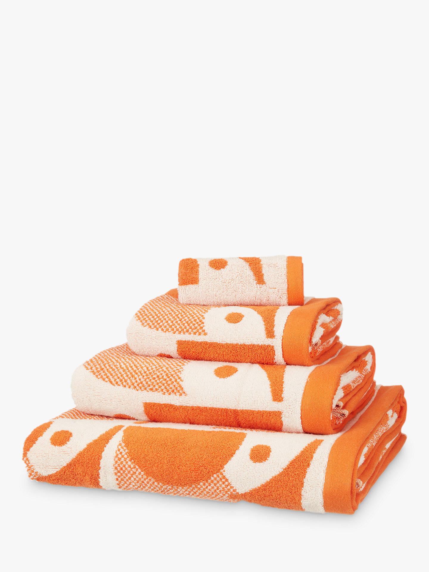orla kiely owl towels papaya orange at john lewis partners. Black Bedroom Furniture Sets. Home Design Ideas
