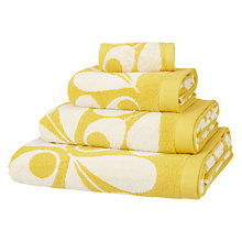 Buy Orla Kiely Acorn Cup Towels, Dandelion Yellow Online at johnlewis.com