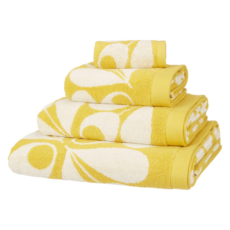 Orla Kiely Acorn Cup Towels Dandelion Yellow at John Lewis