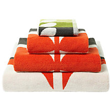 Buy Orla Kiely Large Stem Towels, Tomato Online at johnlewis.com