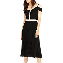 Buy Phase Eight Alania Pleat Dress, Black/Tea Rose Online at johnlewis.com