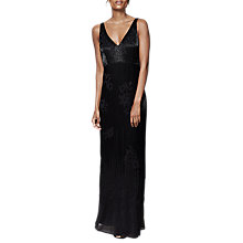 Buy Phase Eight Tomasina Bugle Beaded Dress, Black Online at johnlewis.com