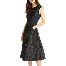 Buy Phase Eight Adara Jacquard Dress, Black Online at johnlewis.com