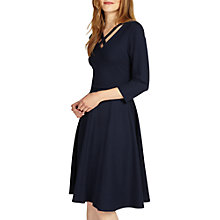 Buy Phase Eight Cross Neck Dress, Navy Online at johnlewis.com