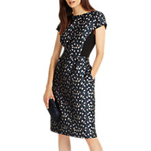 Buy Phase Eight Lindsey Jacquard Dress, Navy Online at johnlewis.com