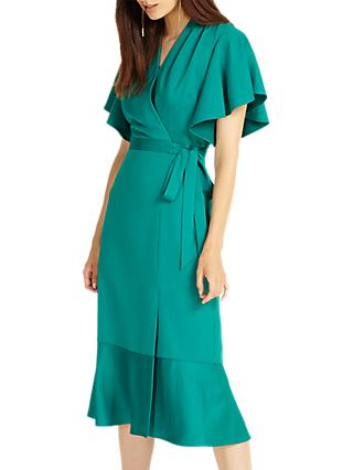 Phase Eight Carlie Frill Dress, Jade