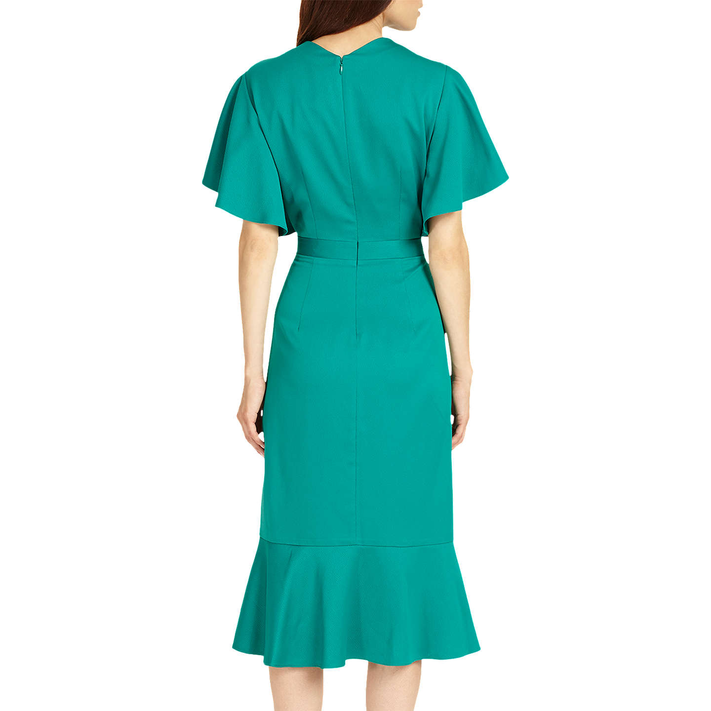 BuyPhase Eight Carlie Frill Dress, Jade, 6 Online at johnlewis.com
