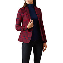 Buy Hobbs Trent Jacket, Burgundy/Navy Online at johnlewis.com