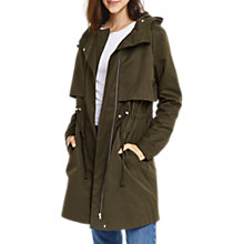 Buy Oasis Lightweight Parka, Khaki Online at johnlewis.com
