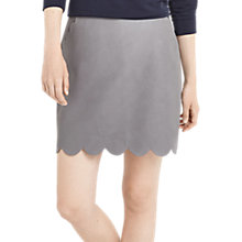 Buy Oasis Faux Leather Scallop Skirt, Mid Grey Online at johnlewis.com