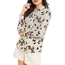 Buy Oasis Nat Butterfly Scallop Shirt, Multi Online at johnlewis.com