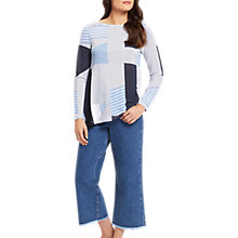 Buy Jaeger Asymmetric Stripe Top, Blue Online at johnlewis.com