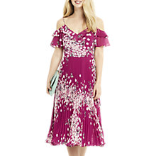 Buy Oasis Kimono Pleated Midi Dress, Multi Pink Online at johnlewis.com