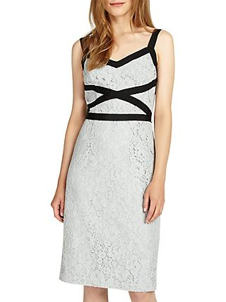 Phase Eight Caela Lace Dress, Sea Salt