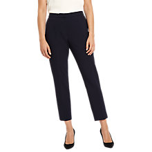 Buy Jaeger Exposed Dart Detail Trousers, Midnight Online at johnlewis.com