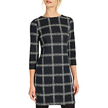 Buy Phase Eight Sybil Sketched Check Tunic Dress, Navy/Ivory Online at johnlewis.com