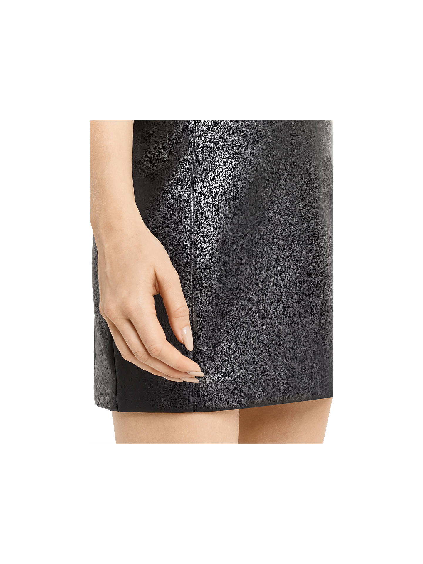 6ae87532a ... Buy Oasis Faux Leather Seamed Mini Skirt, Black, 8 Online at  johnlewis.com ...