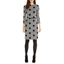 Buy Phase Eight Spot and Check Jacquard Pencil Dress, Navy/Ivory Online at johnlewis.com
