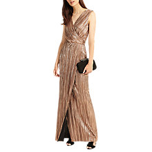 Buy Phase Eight Metallic Anthea Pleat Dress, Copper Online at johnlewis.com