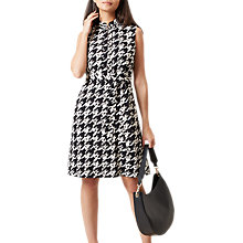 Buy Hobbs Floretta Shirt Dress, Black/Ivory Online at johnlewis.com
