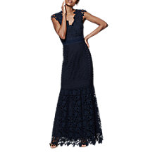 Buy Phase Eight Collection 8 Sauvan Lace Dress, Navy Online at johnlewis.com