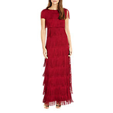 Buy Phase Eight Ismay Fringe Dress, Scarlet Online at johnlewis.com