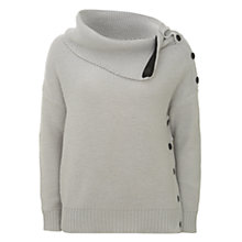 Buy Mint Velvet Porcelain Popper Boxy Knitted Jumper, Neutral Online at johnlewis.com